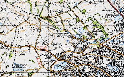 Old map of Barrow Bridge in 1947