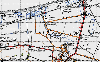 Old map of Barrow Haven in 1947