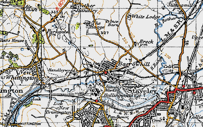 Old map of Barrow Hill in 1947