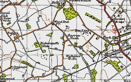 Old map of Barrow Nook in 1947