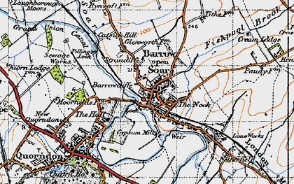 Old map of Barrow upon Soar in 1946
