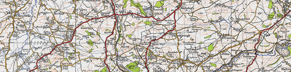 Old map of Whidcombe Brake in 1946