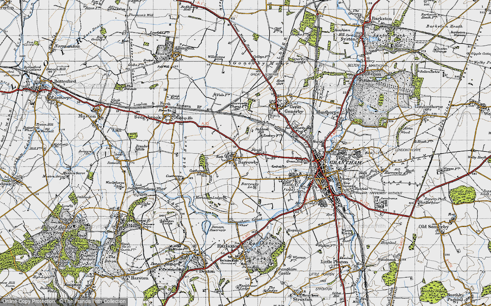 Old Map of Barrowby, 1946 in 1946