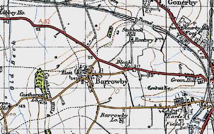 Old map of Barrowby in 1946