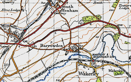 Old map of Barrowden in 1946