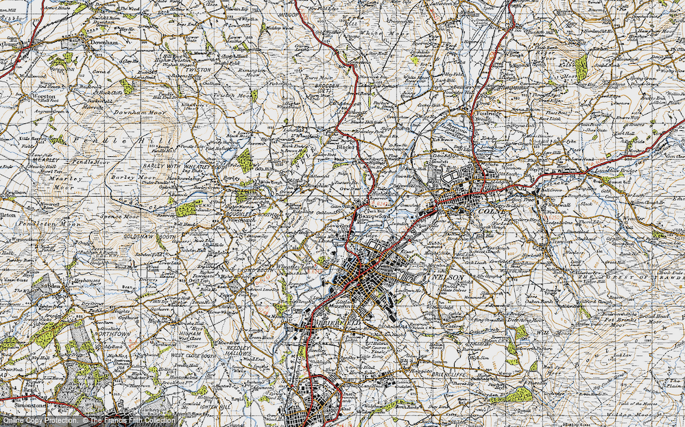 Old Map of Barrowford, 1947 in 1947