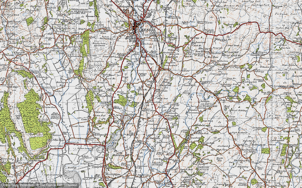 Old Map of Historic Map covering Larkrigg in 1947