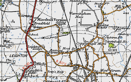 Old map of Leighton Lodge in 1947