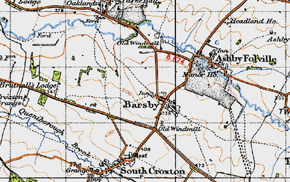 Old map of Barsby in 1946