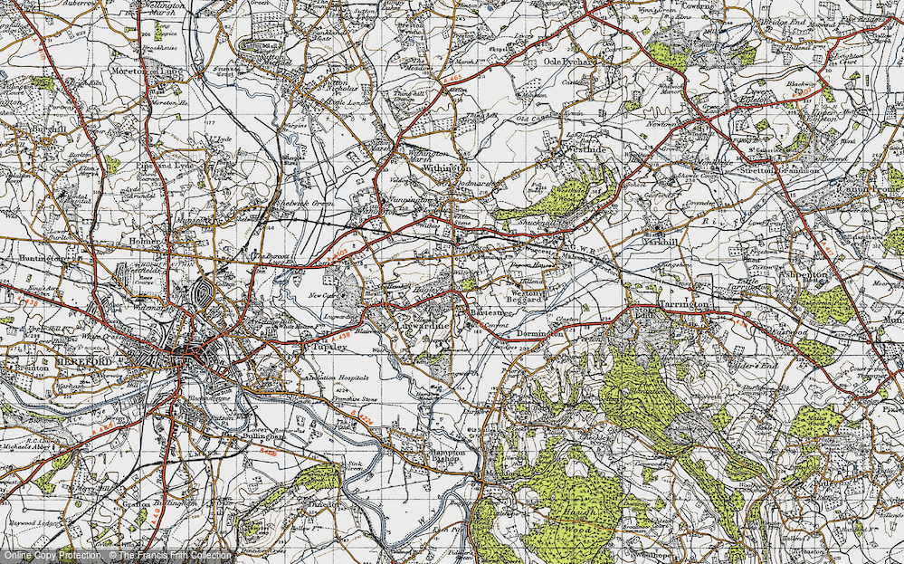 Old Map of Bartestree, 1947 in 1947