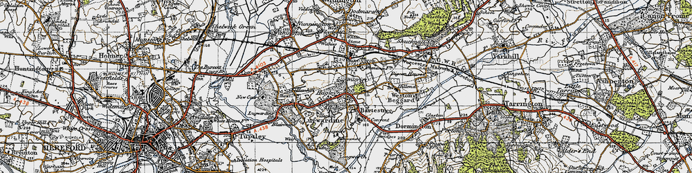Old map of Wilcroft in 1947