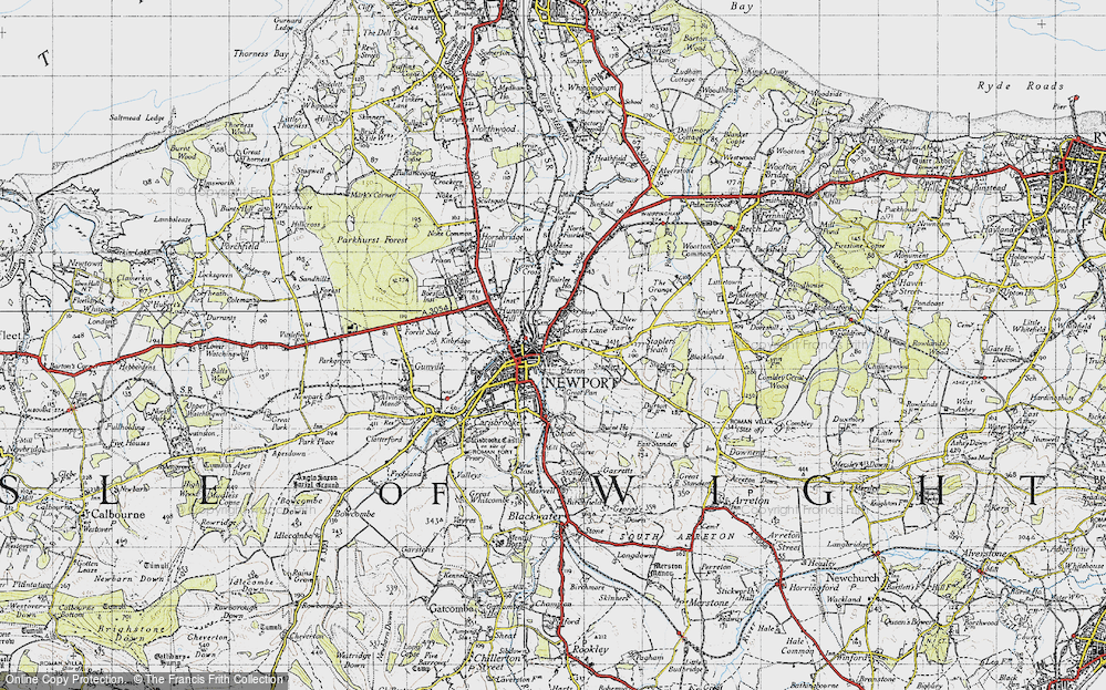 Old Map of Barton, 1945 in 1945