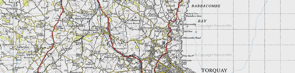 Old map of Barton in 1946
