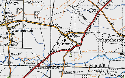 Old map of Tit Brook in 1946