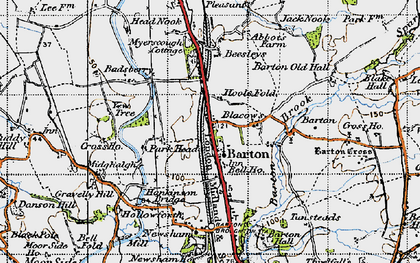 Old map of Barton in 1947