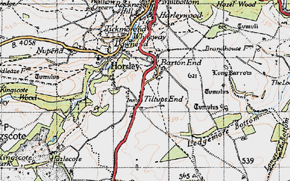 Old map of Barton End in 1946