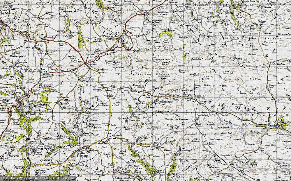 Old Map of Historic Map covering Yelland Cross in 1946