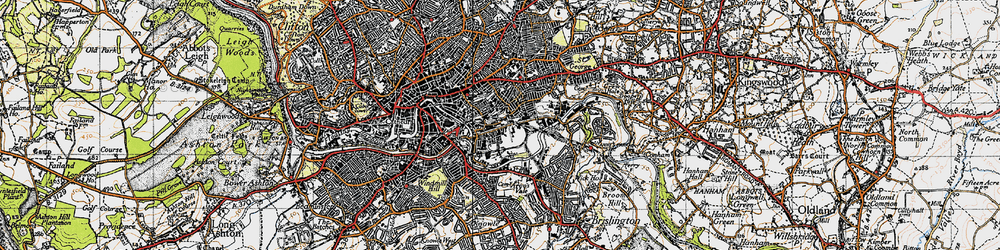 Old map of Barton Hill in 1946