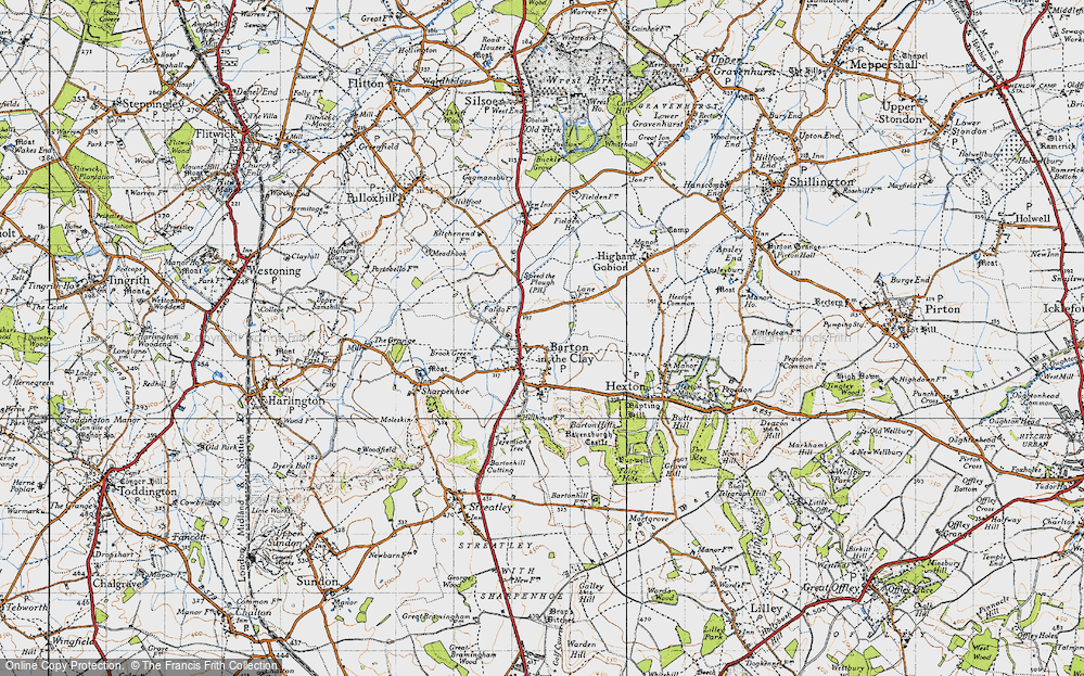 Old Map of Barton-le-Clay, 1946 in 1946