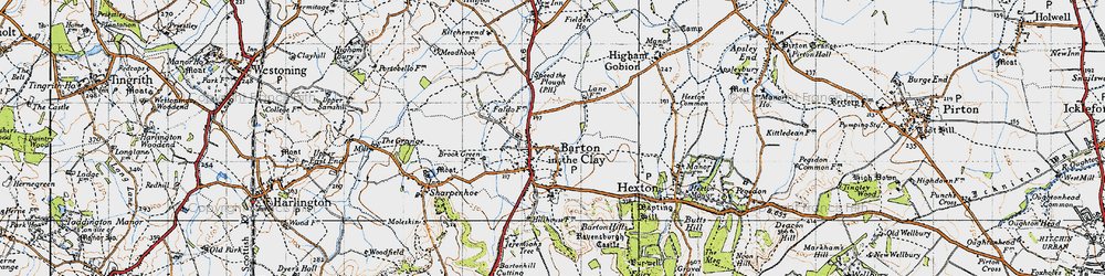 Old map of Barton-le-Clay in 1946