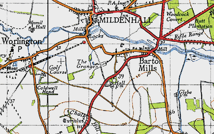 Old map of Barton Mills in 1946