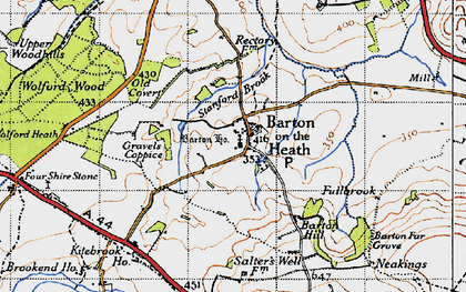 Old map of Barton-on-the-Heath in 1946