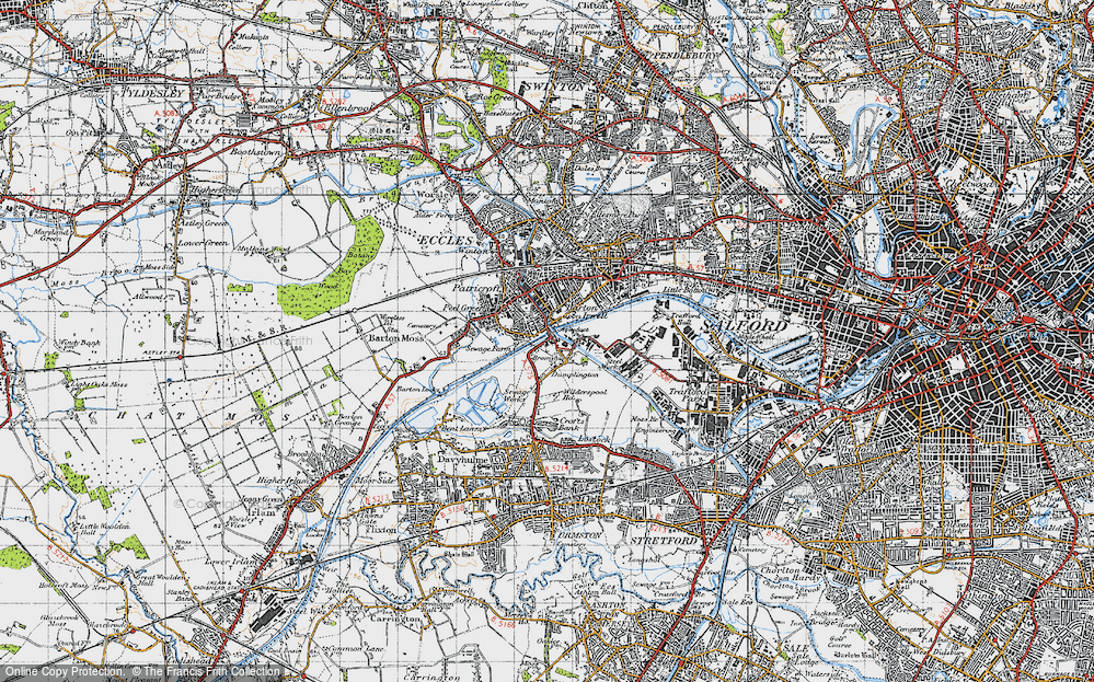 Old Map of Barton Upon Irwell, 1947 in 1947