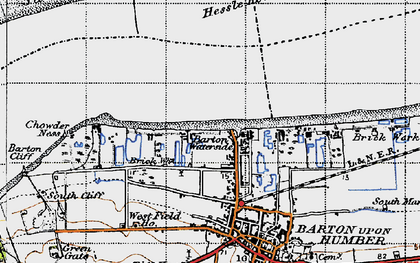 Old map of Barton Waterside in 1947