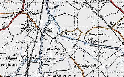 Old map of Barway in 1946