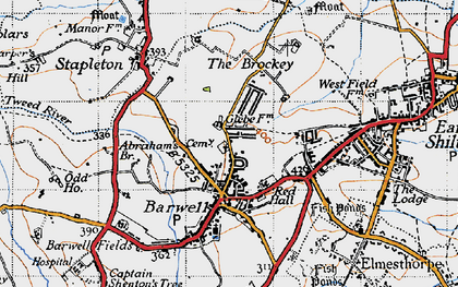 Old map of Barwell in 1946