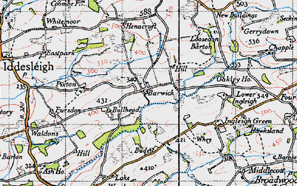 Old map of Barwick in 1946