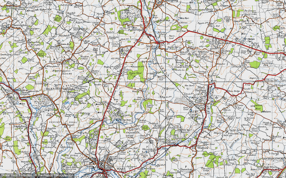 Old Map of Barwick, 1946 in 1946