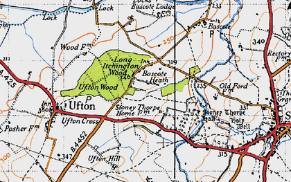 Old map of Bascote Heath in 1946