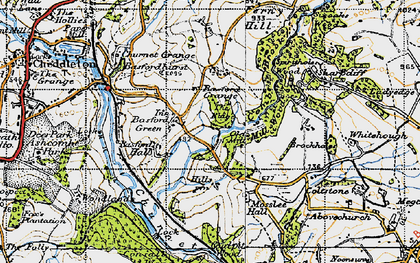 Old map of Whitehough in 1946