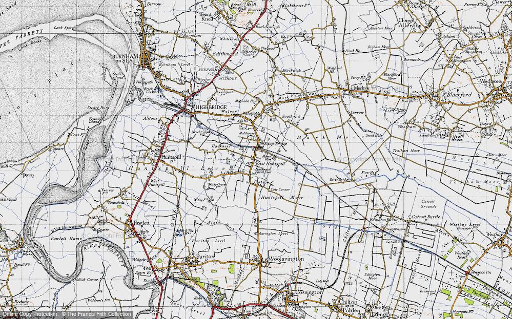 Old Map of Bason Bridge, 1946 in 1946