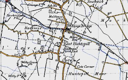 Old map of Bason Bridge in 1946