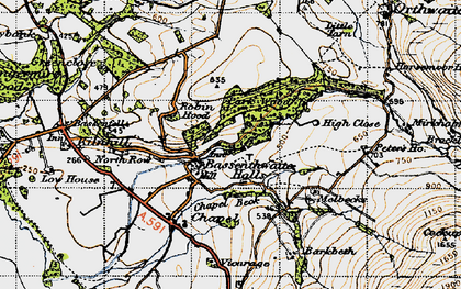 Old map of Barkbeth in 1947