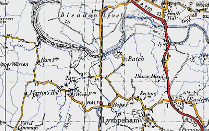 Old map of Batch in 1946