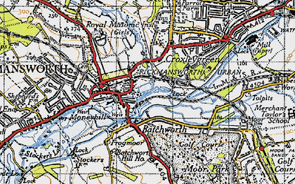 Old map of Batchworth in 1946