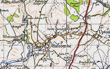 Old map of Batcombe in 1946