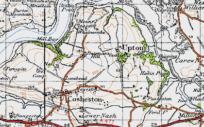 Old map of Bateman's Hill in 1946