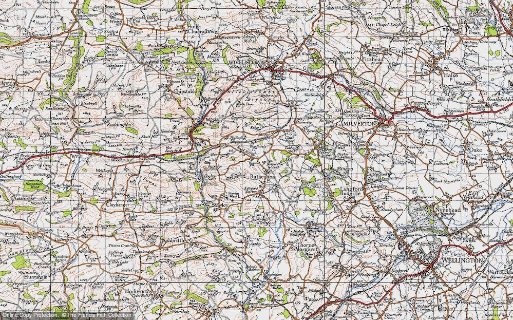 Old Map of Bathealton, 1946 in 1946
