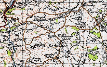 Old map of Bathealton in 1946