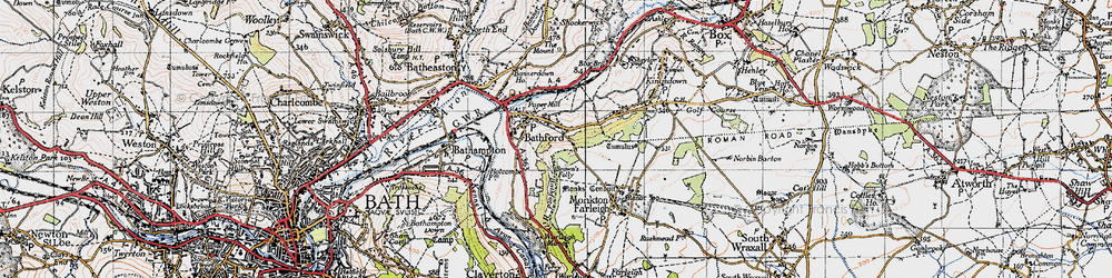 Old map of Bathford in 1946