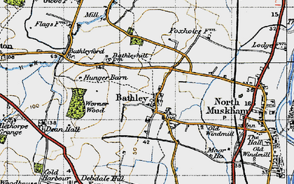 Old map of Worner Wood in 1947