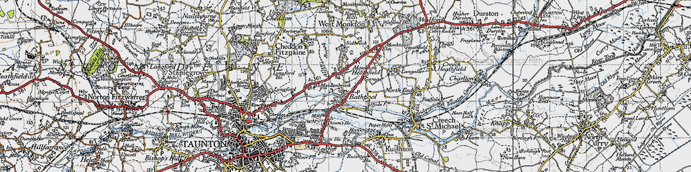 Old map of Bathpool in 1946