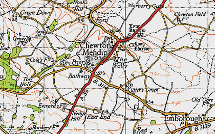 Old map of Bathway in 1946