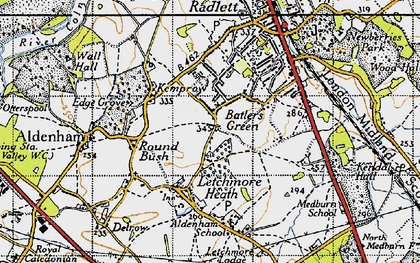 Old map of Batlers Green in 1946