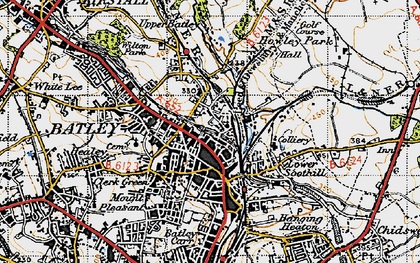 Old map of Batley in 1947