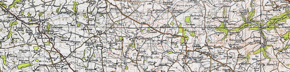 Old map of Batsworthy in 1946